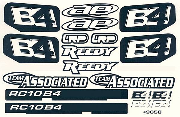 Asc9658 Rc10b4 Logo Decal Sheet By Associated Great