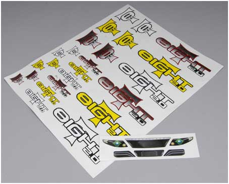Tmla8377 Team Losi Large Decal Sheet 8t 2 0 By Team Losi